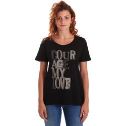 Vêtements Femme T-shirts manches courtes Key Up 5Z19S 0001 Noir
