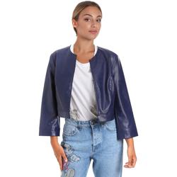 Vêtements Femme Vestes en cuir / synthétiques Fracomina FR20SM708 Bleu