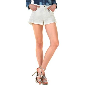 Vêtements Femme Shorts / Bermudas Liu Jo F18281T9411 Blanc