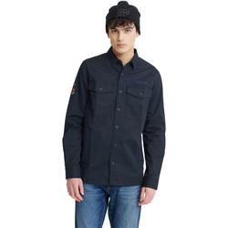 Vêtements Homme Chemises manches longues Superdry M4010023A Bleu