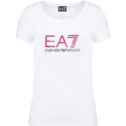 Vêtements Femme T-shirts manches courtes Ea7 Emporio Armani 8NTT63 TJ12Z Blanc