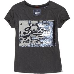 Vêtements Femme T-shirts manches courtes Superdry G10010MR Gris
