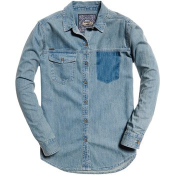 Vêtements Femme Chemises / Chemisiers Superdry G40004IR Bleu