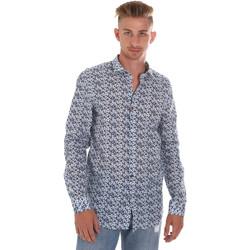 Vêtements Homme Chemises manches longues Sseinse CE508SS Bleu