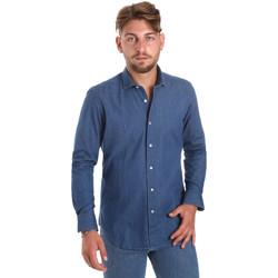 Vêtements Homme Chemises manches longues Betwoin DENIM78 6635535 Bleu