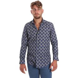 Vêtements Homme Chemises manches longues Betwoin DB111 Bleu