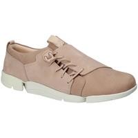 Chaussures Femme Baskets basses Clarks 131761 Rose