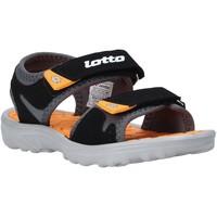 Chaussures Enfant Paniers, boites et corbeilles Lotto L55098 Noir