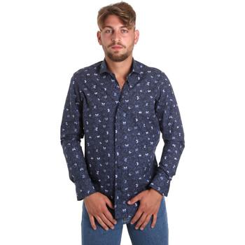 Vêtements Homme Chemises manches longues Betwoin D092 6635535 Bleu