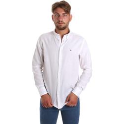 Vêtements Homme Chemises manches longues Les Copains 9U2371 Blanc