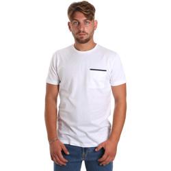Vêtements Homme T-shirts manches courtes Antony Morato MMKS01798 FA100212 Blanc