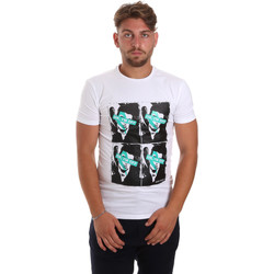 Vêtements Homme T-shirts manches courtes Antony Morato MMKS01743 FA120001 Blanc