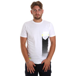 Vêtements Homme T-shirts manches courtes Antony Morato MMKS01794 FA100189 Blanc