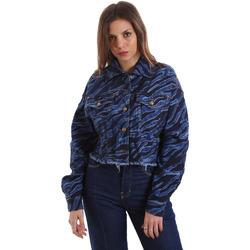 Vêtements Femme Vestes en jean Versace C0HVB939AQC5Q904 Bleu