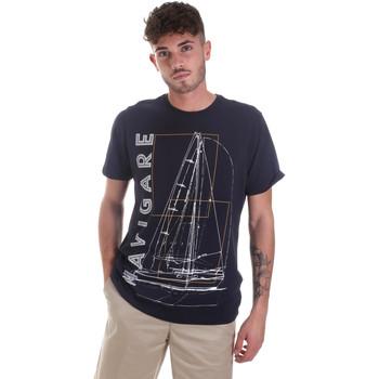 Vêtements Homme T-shirts manches courtes Navigare NV31109 Bleu