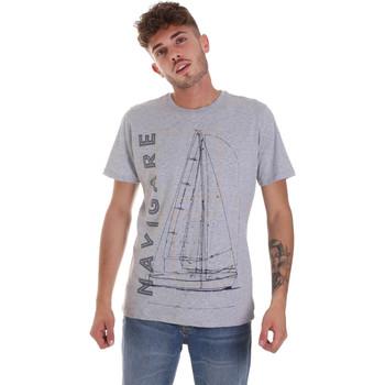 Vêtements Homme T-shirts manches courtes Navigare NV31109 Gris