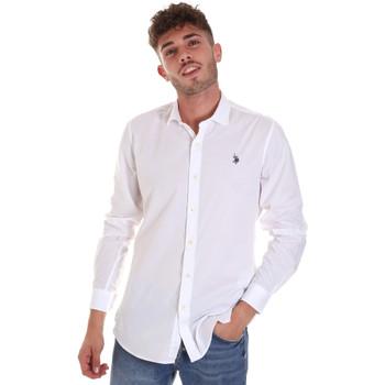 Vêtements Homme Chemises manches longues U.S Polo Assn. 58835 50655 Blanc