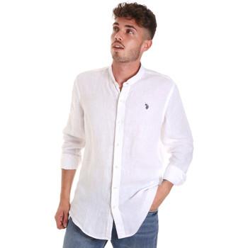 Vêtements Homme Chemises manches longues U.S Polo Assn. 58667 50816 Blanc