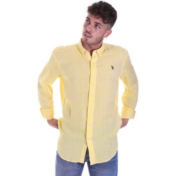Vêtements Homme Chemises manches longues U.S Polo Assn. 58574 50816 Jaune