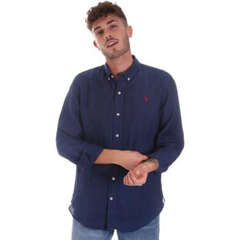 Vêtements Homme Chemises manches longues U.S Polo Assn. 58574 50816 Bleu