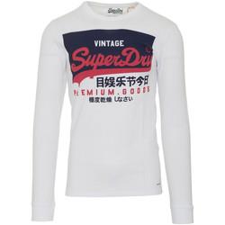 Vêtements Homme T-shirts manches longues Superdry M6010048A Blanc
