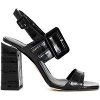 Chaussures Femme Sandales et Nu-pieds Café Noir LE126 Noir