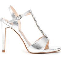 Chaussures Femme Sandales et Nu-pieds Café Noir MC907 Argent