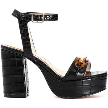 Chaussures Femme Sandales et Nu-pieds Café Noir MA924 Noir
