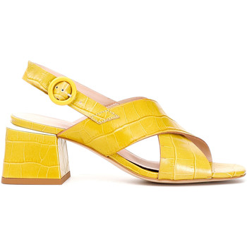 Chaussures Femme Sandales et Nu-pieds Café Noir LF124 Jaune