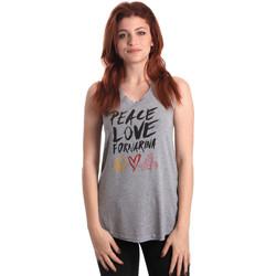 Vêtements Femme Débardeurs / T-shirts sans manche Fornarina BERT476JF7206 Gris