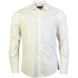 Vêtements Homme Chemises manches longues Meadrine - chemise BLANC CASSE