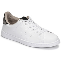 Chaussures Femme Baskets basses Victoria TENIS VEGANA SERPIENTE Blanc / Noir