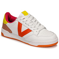 Chaussures Femme Baskets basses Victoria CRONO PIEL COMBINADO Blanc / Orange