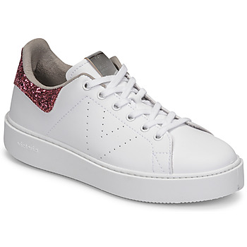 Chaussures Femme Baskets basses Victoria UTOPIA GLITTER Blanc / Rose