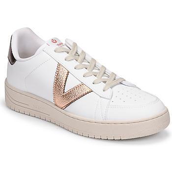 Chaussures Femme Baskets basses Victoria SIEMPRE BASKET VEGANA METALIZADO Blanc