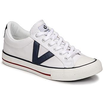 Chaussures Baskets basses Victoria TRIBU LONA CONTRASTE Blanc / Bleu