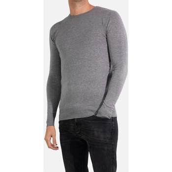 Vêtements Homme Pulls Kebello Pull manches longues col rond Taille : H Gris S Gris