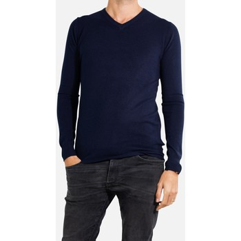 Vêtements Homme Pulls Kebello Pull manches longues col V Taille : H Marine S Marine