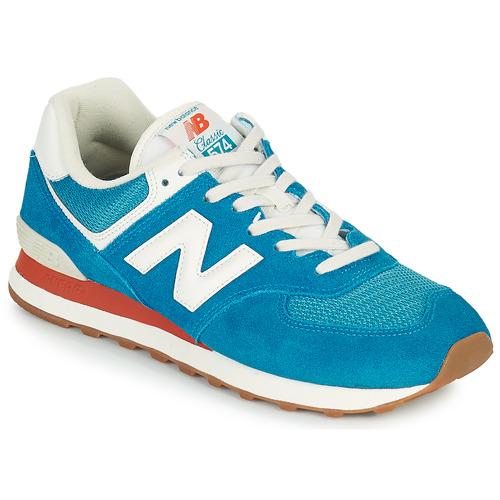 New Balance 574 Bleu / Blanc - Chaussures Baskets basses Homme 76,25 €
