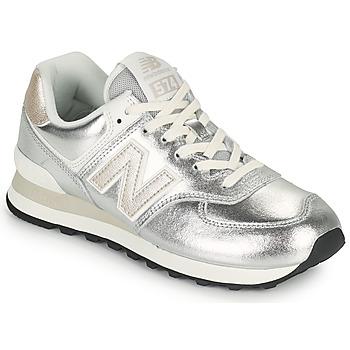 Chaussures Femme Baskets basses New Balance 574 Argenté