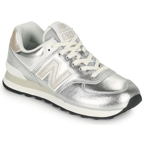 New Balance 574 Argenté - Livraison Gratuite | Gov ! - Chaussures ...