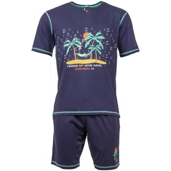 Vêtements Homme Pyjamas / Chemises de nuit Christian Cane - pyjama court Bleu marine