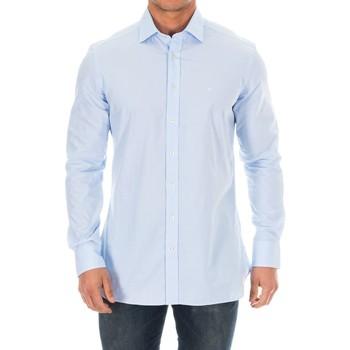 Vêtements Homme Chemises manches longues Hackett Chemise M / Longue Bleu