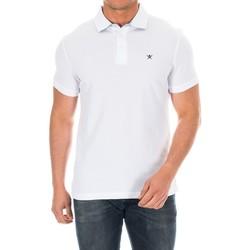 Vêtements Homme Polos manches courtes Hackett Polo à manches courtes Blanc