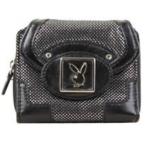 Sacs Femme Portefeuilles Playboy Porte monnaie + cartes  PA2523 Noir et argent Noir