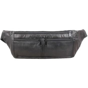 Sacs Homme Pochettes / Sacoches A Découvrir ! Pochette ceinture ultra plate en cuir noir Multicolor