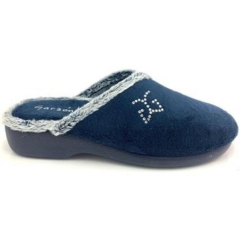 Chaussures Femme Chaussons Garzon 3305 TERCIOPELO AZUL Zapatillas