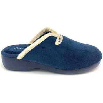 Chaussures Femme Chaussons Garzon 3721 TERCIOPELO AZUL Zapatillas