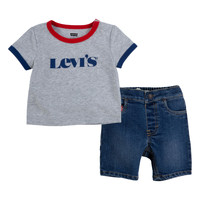 Vêtements Garçon Ensembles enfant Levi's RINGER TEE DENIM SHORT SET Multicolore