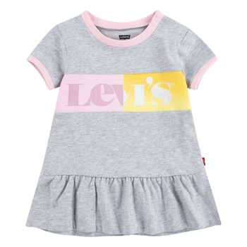 Vêtements Fille Robes courtes Levi's 1EC694-G2H Gris